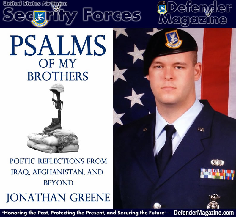 "Book: ""Psalms of my Brothers: Poetic Reflections from Iraq, Afghanistan, and Beyond"" by Jonathan Greene, U.S. Air Force Security Forces Veteran"